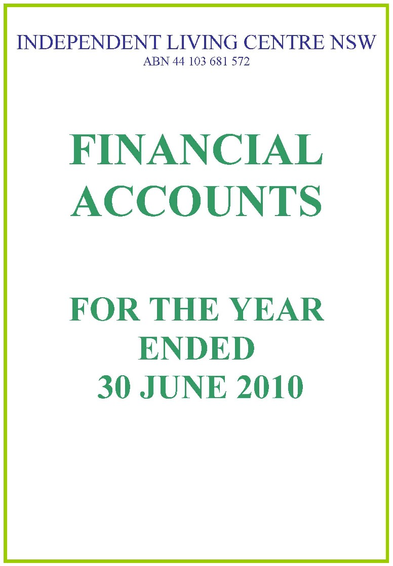 2009-2010 ILC Financial Report