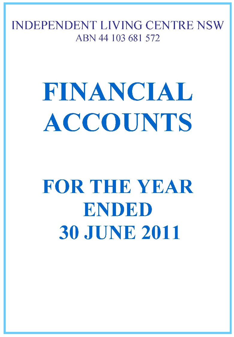 2010-2011 ILC Financial Report
