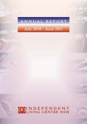 Cover of the 2010-2011 Annual Report showing ILC Journal Covers and Events