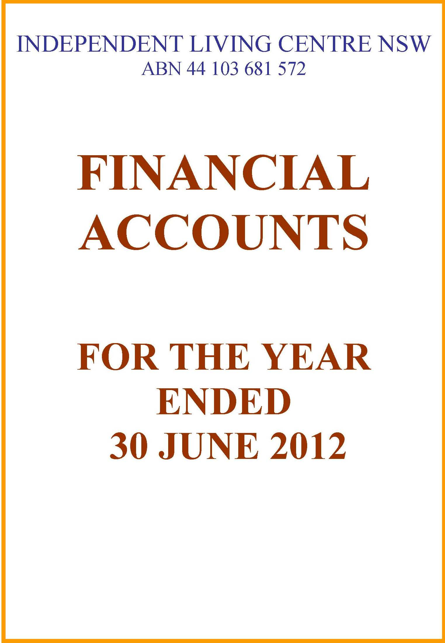 2011-2012 ILC Financial Report