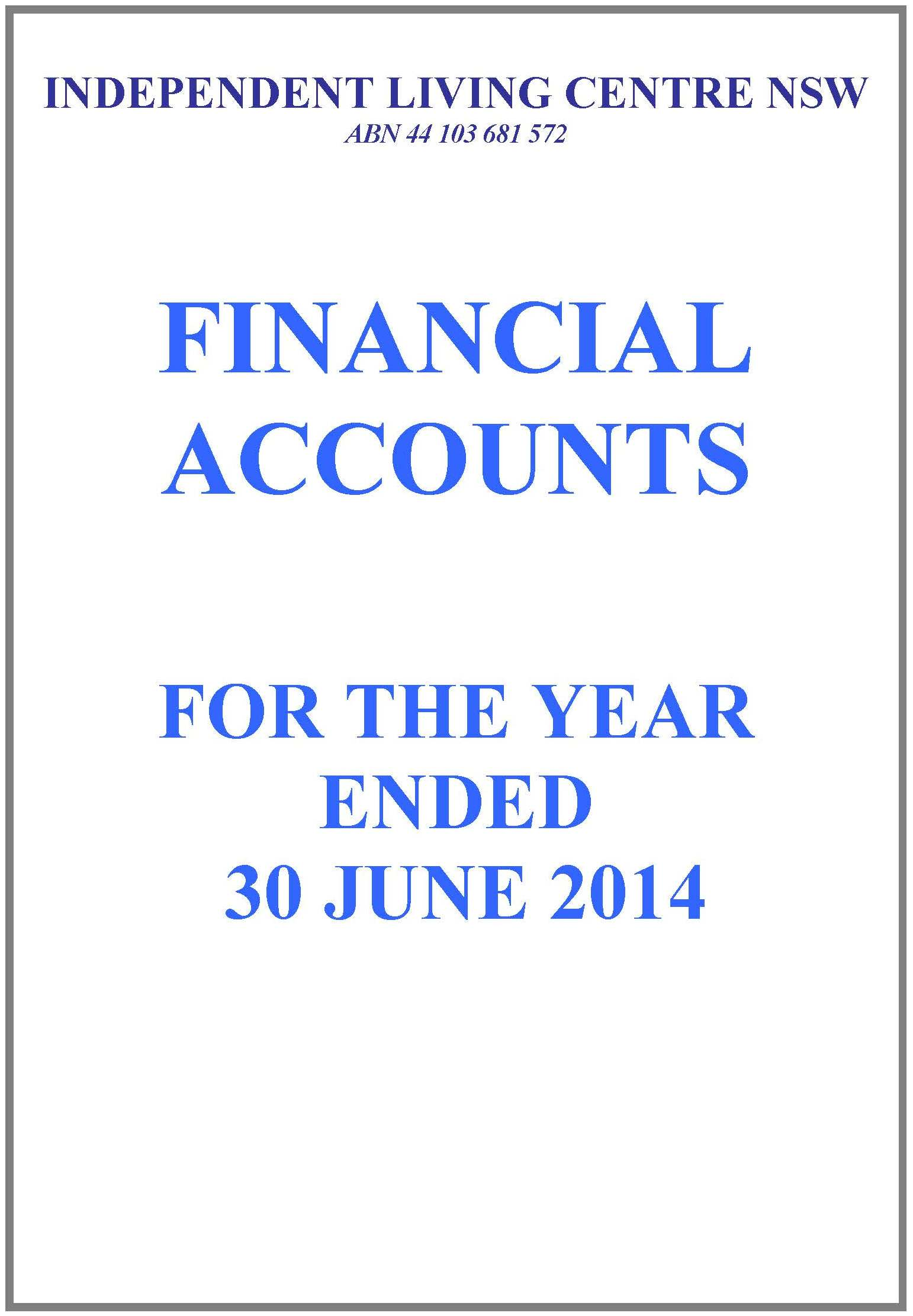 2013-2014 ILC Financial Report