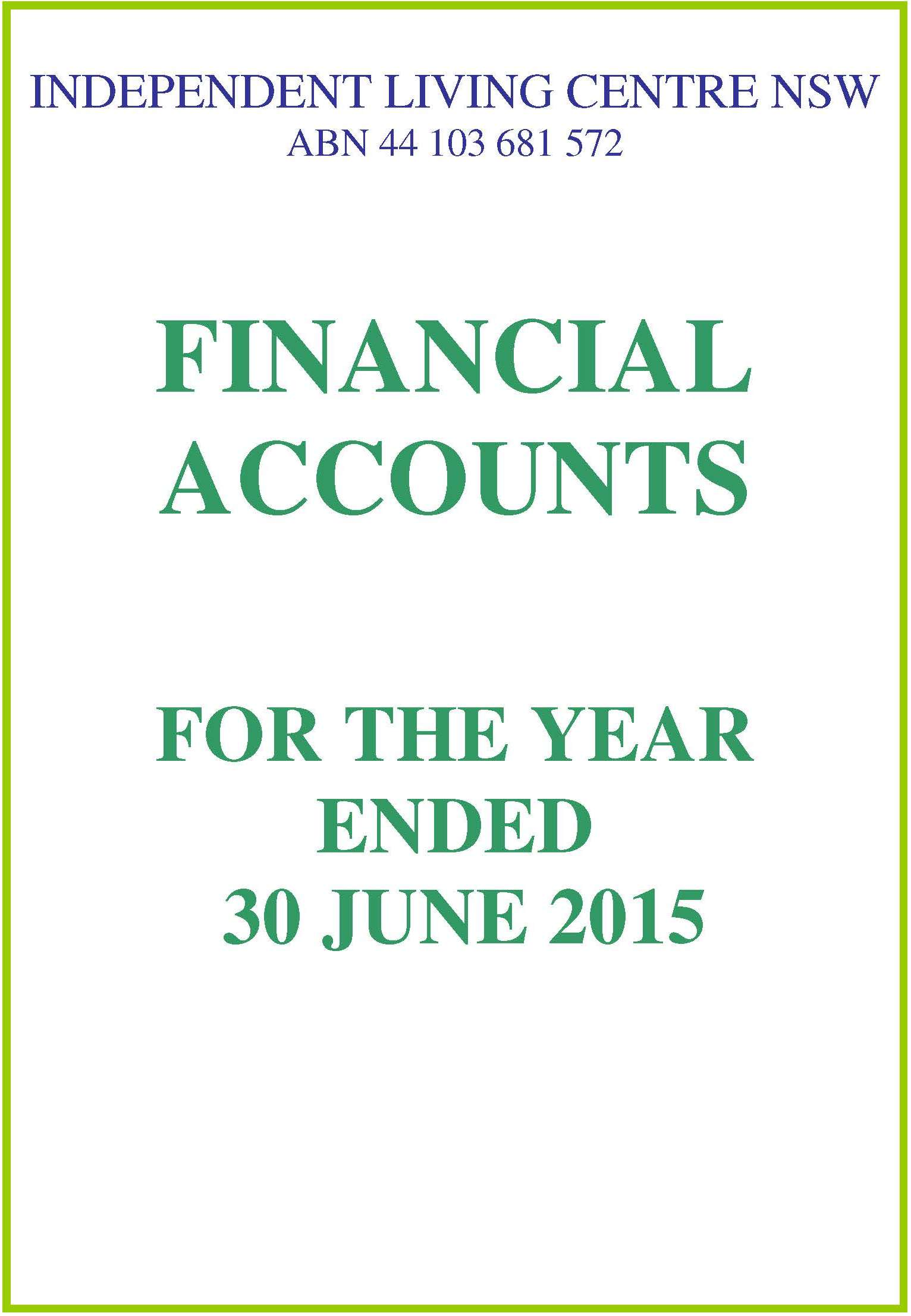 2014-2015 ILC Financial Report