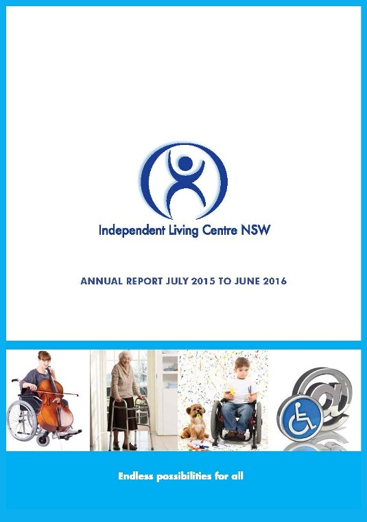 Cover of the 2015-2016 ILC Annual Report