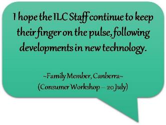 Feedback from consumer after attending Canberra workshop