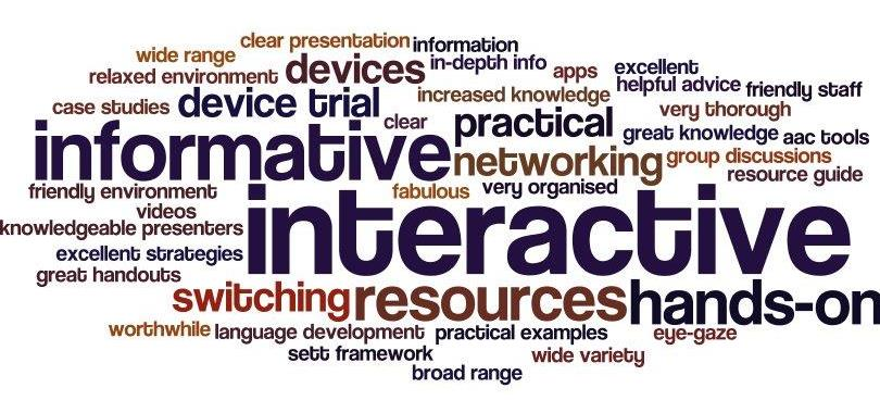 Word cloud showing workshops participants experience with telecommunications 