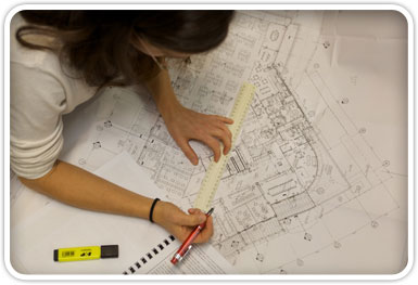 access consultant auditing architectural drawing
