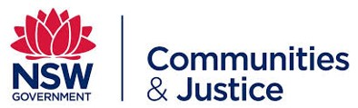 Logo for New South Wales Government Department of Communities and Justice