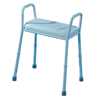 Auscare Aluminium Extra Shower Stool with Padded Seat