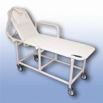 Polymedic Mobile Shower Recliner Trolley