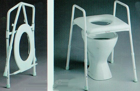 Awe Inspiring Eastin K Care Adjustable Folding Toilet Seat Raiser Pabps2019 Chair Design Images Pabps2019Com