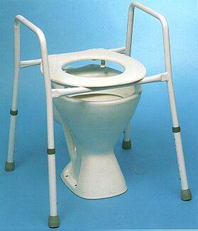 Auscare Adjustable Over Toilet Frame