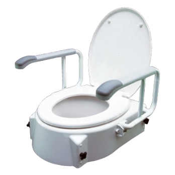 PCP Raised Toilet Seat With Arms