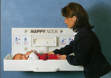 Bradley Nappy Nook Wall Mounted Baby Change Tables