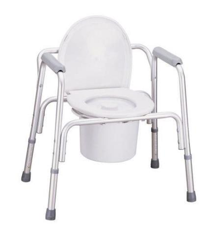 Aluminium Commode Chair