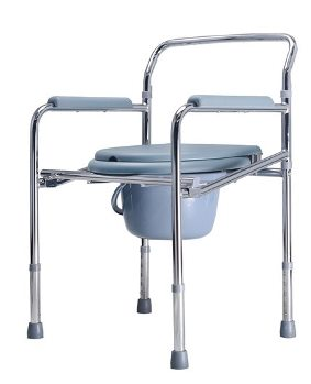 Chrome Plated Commode Chair