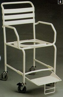K-Care Budget Shower Commode - Attendant Propelled