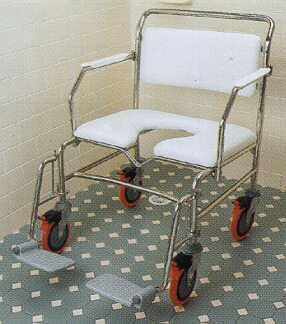 K-Care Maxi Range of Shower Commodes - Attendant Propelled