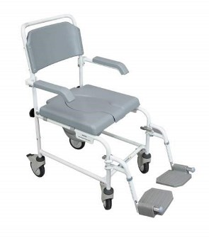 Bewl Attendant Propelled Shower Commode Chair