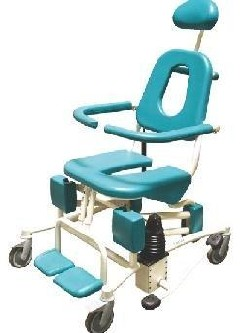 Reval Soflex Elevating Tilt-in-Space Shower Commode and Toilet Chair
