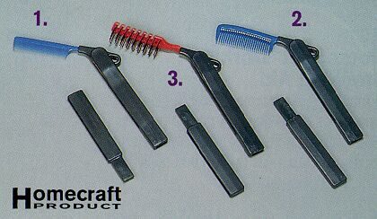 Homecraft Folding Long-Handled Combs And Brush