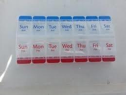 Ezy Dose Push Button Pill Reminder 7-Day AM/PM XL