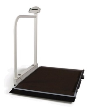 Ecomed Seca 676 - Digital Wheelchair Scale With Handrail