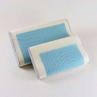 Bad Backs Memory Foam Gel Contour Pillow