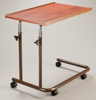 Overbed Table Brown