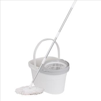 White Magic Spin Mop - Hand Press