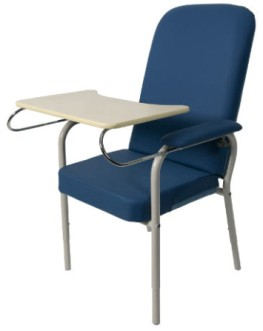Day chair with tray
