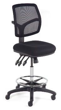BFX Riva Max Mesh Ergo Office Chair With Drafting Base