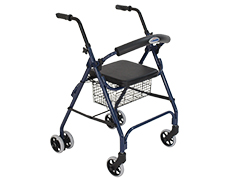 K-Care Seat Walker With Push Down Brakes KA364SW