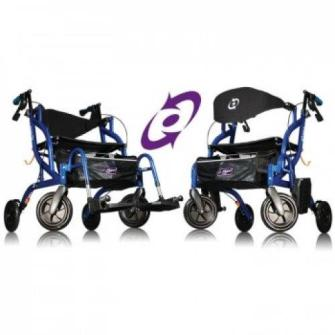 Airgo Fusion Side-Folding Rollator and Transport Chair