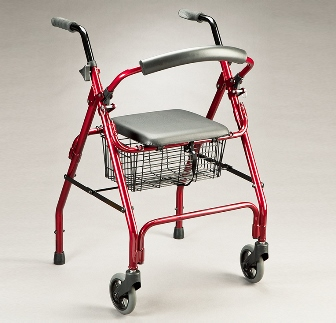 Care Quip Pacer Walker with Push Down Brakes 2906