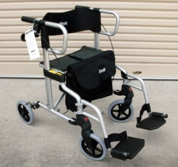 Drive Diamond Deluxe 2 in 1 Rollator & Wheelchair