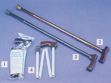 Adjustable Aluminium Folding Walking Stick