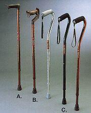 Aluminium Height Adjustable Walking Sticks
