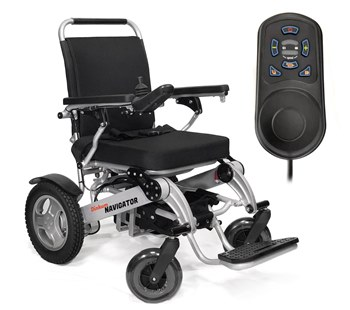 Dinkim Navigator and T-100 Trailer Electric Wheelchair