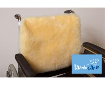 Lambcare Lambskin Wheelchar Backrest Cover