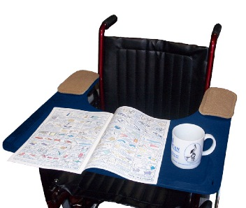 Wheelchair Tray, Strap And Bag