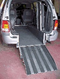 Rear View Inside Van