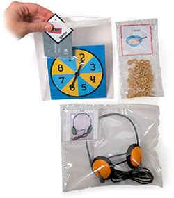 Clear Object-to-Picture Communication Pouches