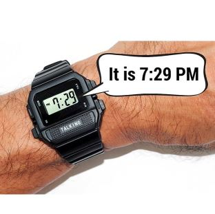 Large Digit Talking Watch