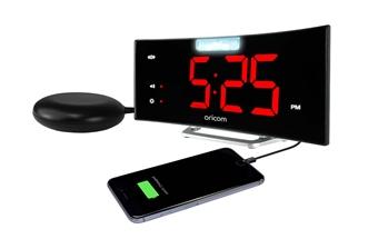 WNS100 Wake 'N' Shake Curve Alarm Clock