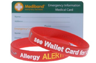 Allergy Band and Card