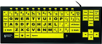 Black on Yellow Keys