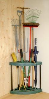 Garage Corner Tidy for Garden Tools