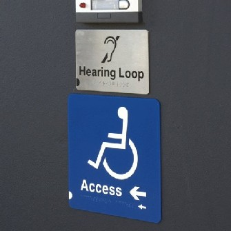 Metalplaque Braille and Tactile Signs