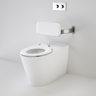 Caroma Care 800 Cleanflush Wall Faced Invisi Series II Toilet Suite with Backrest