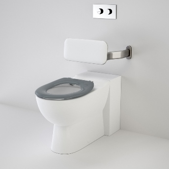 Caroma Leda Care Invisi Series II Wall Faced Toilet Suite with Backrest